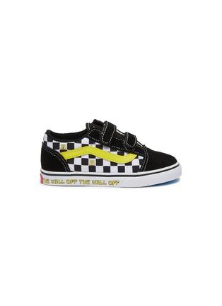 Main View - Click To Enlarge - VANS - x SpongeBob SquarePants 'Old Skool' Checkboard Print Canvas Toddler Sneakers