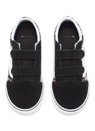 Figure View - Click To Enlarge - VANS - Old Skool' Floral Print Double Velcro Kids Sneakers