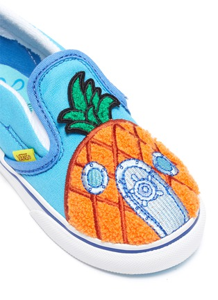 Detail View - Click To Enlarge - VANS - x SpongeBob SquarePants 'Slip-On V' Pineapple Patch Canvas Toddler Sneakers