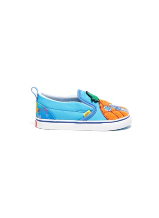 Main View - Click To Enlarge - VANS - x SpongeBob SquarePants 'Slip-On V' Pineapple Patch Canvas Toddler Sneakers