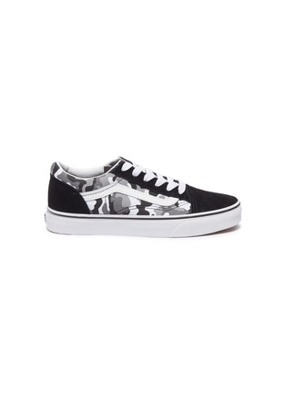 Main View - Click To Enlarge - VANS - OLD SKOOL' CAMO PRINT LACE UP KIDS SNEAKERS