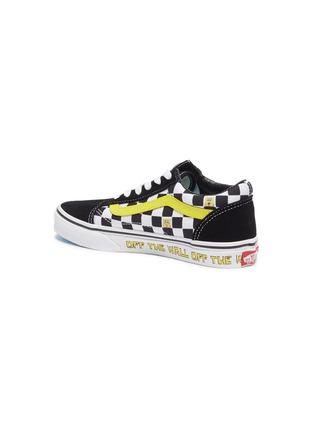 Detail View - Click To Enlarge - VANS - x SpongeBob SquarePants 'Old Skool' Checkboard Print Canvas Kids Sneakers