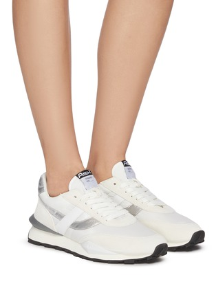 Figure View - Click To Enlarge - ASH - 'Spider' Metallic Accent Lace Up Sneakers