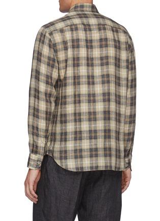 Back View - Click To Enlarge - TOMORROWLAND - Sahara' Plaid Shirt
