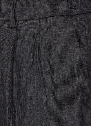 - TOMORROWLAND - Drawstring Waist Straight Leg Linen Pants