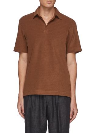 Main View - Click To Enlarge - TOMORROWLAND - Albini' Button Free Polo Shirt