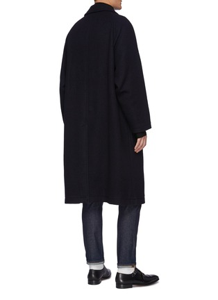 Back View - Click To Enlarge - TOMORROWLAND - Concealed Placket Raglan Long Coat