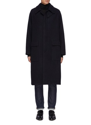 Main View - Click To Enlarge - TOMORROWLAND - Concealed Placket Raglan Long Coat