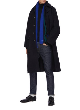 Figure View - Click To Enlarge - TOMORROWLAND - Concealed Placket Raglan Long Coat