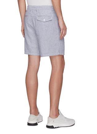 Back View - Click To Enlarge - RAG & BONE - 'Eaton' striped linen blend shorts