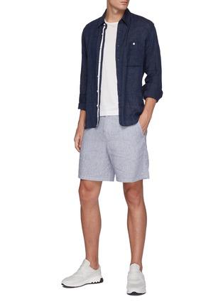 Figure View - Click To Enlarge - RAG & BONE - 'Eaton' striped linen blend shorts