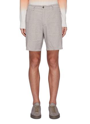 Main View - Click To Enlarge - RAG & BONE - 'Eaton' linen blend shorts