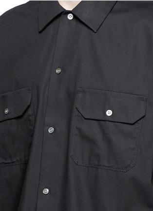 Detail View - Click To Enlarge - Acne Studios - 'Santos' oversized cotton utility shirt