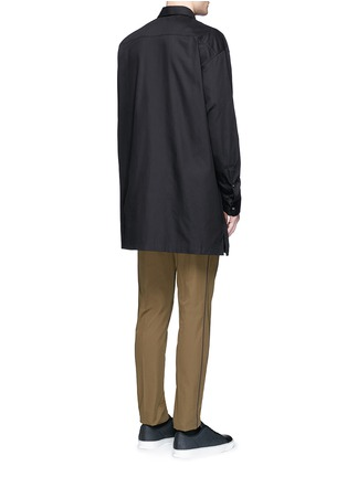 Back View - Click To Enlarge - Acne Studios - 'Santos' oversized cotton utility shirt