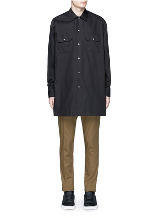 Main View - Click To Enlarge - Acne Studios - 'Santos' oversized cotton utility shirt
