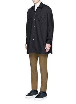 Figure View - Click To Enlarge - Acne Studios - 'Santos' oversized cotton utility shirt