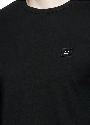 Detail View - Click To Enlarge - Acne Studios - 'Tage Face' emoji patch cotton T-shirt