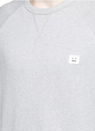 Detail View - Click To Enlarge - ACNE STUDIOS - 'College Face' emoji patch cotton sweatshirt