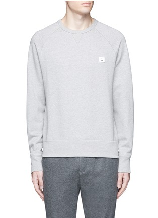 Main View - Click To Enlarge - ACNE STUDIOS - 'College Face' emoji patch cotton sweatshirt