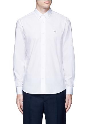 Main View - Click To Enlarge - Acne Studios - 'Jeffrey' emoji patch poplin shirt