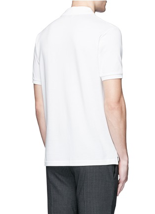 Back View - Click To Enlarge - Acne Studios - 'Kolby Face' emoji patch cotton polo shirt