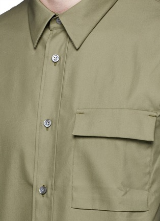 Detail View - Click To Enlarge - Acne Studios - 'Spin' pocket military shirt