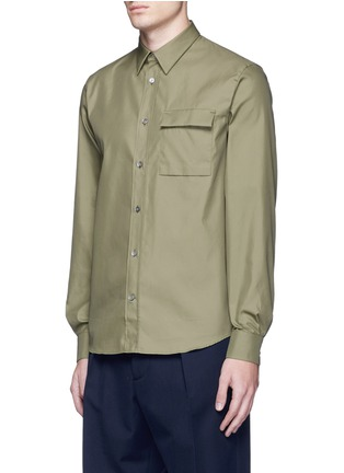 Front View - Click To Enlarge - Acne Studios - 'Spin' pocket military shirt