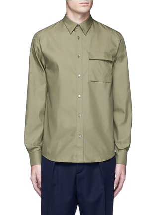 Main View - Click To Enlarge - Acne Studios - 'Spin' pocket military shirt