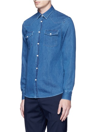 Front View - Click To Enlarge - Acne Studios - 'Ewing' washed cotton denim Western shirt