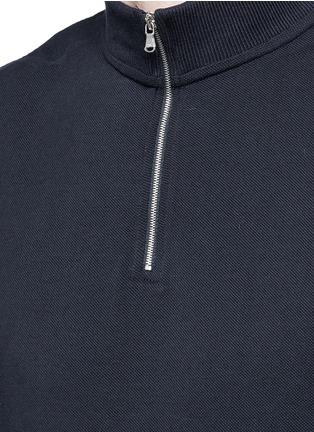 Detail View - Click To Enlarge - Acne Studios - 'Keller' mock turtleneck cotton polo shirt