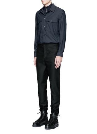 Figure View - Click To Enlarge - Acne Studios - 'Keller' mock turtleneck cotton polo shirt
