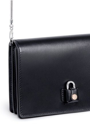 Detail View - Click To Enlarge - ALEXANDER WANG - 'Pelican' large padlock leather crossbody chain bag