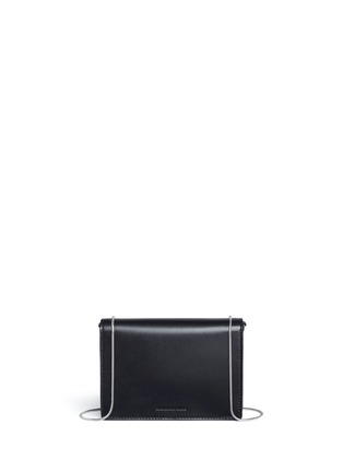 Back View - Click To Enlarge - ALEXANDER WANG - 'Pelican' large padlock leather crossbody chain bag