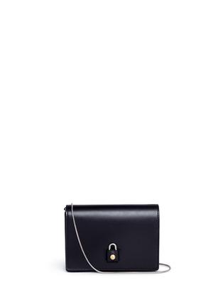 Main View - Click To Enlarge - ALEXANDER WANG - 'Pelican' large padlock leather crossbody chain bag