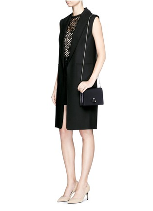 Figure View - Click To Enlarge - ALEXANDER WANG - 'Pelican' large padlock leather crossbody chain bag