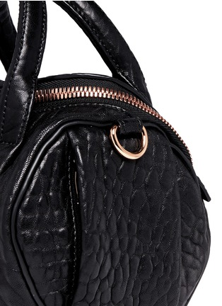 Detail View - Click To Enlarge - Alexander Wang  - 'Mini Rockie' pebbled leather duffle bag
