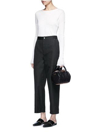 - Alexander Wang  - 'Mini Rockie' pebbled leather duffle bag