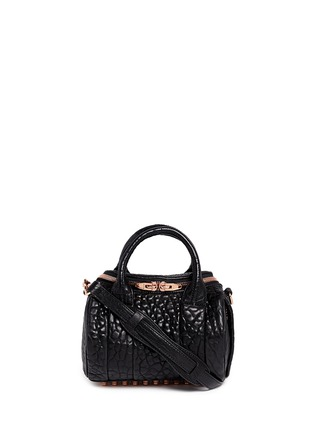 Main View - Click To Enlarge - Alexander Wang  - 'Mini Rockie' pebbled leather duffle bag
