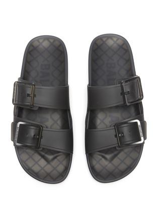 Detail View - Click To Enlarge - BALENCIAGA - 'Mallorca' Translucent Double Strap Flatform Sandals
