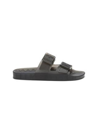 Main View - Click To Enlarge - BALENCIAGA - 'Mallorca' Translucent Double Strap Flatform Sandals