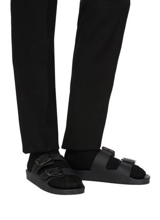 Figure View - Click To Enlarge - BALENCIAGA - 'Mallorca' Translucent Double Strap Flatform Sandals
