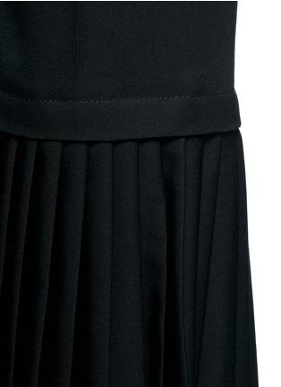 Detail View - Click To Enlarge - Stella McCartney - Plissé pleat wool flared pants