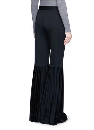 Back View - Click To Enlarge - Stella McCartney - Plissé pleat wool flared pants
