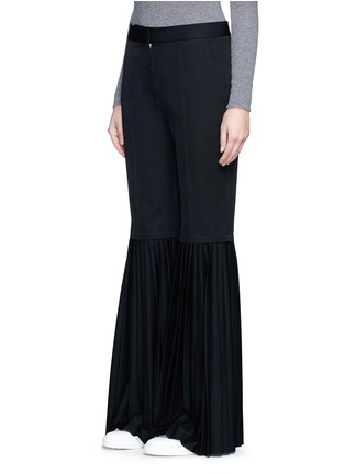 Front View - Click To Enlarge - Stella McCartney - Plissé pleat wool flared pants