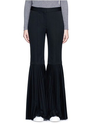 Main View - Click To Enlarge - Stella McCartney - Plissé pleat wool flared pants