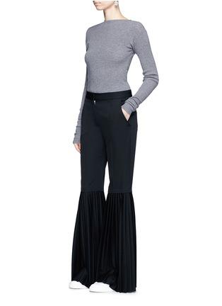 Figure View - Click To Enlarge - Stella McCartney - Plissé pleat wool flared pants