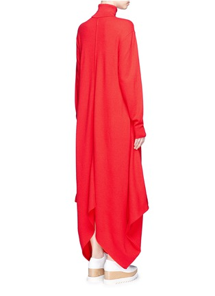 Back View - Click To Enlarge - Stella McCartney - Virgin wool turtleneck maxi sweater dress