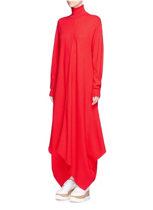 Front View - Click To Enlarge - Stella McCartney - Virgin wool turtleneck maxi sweater dress