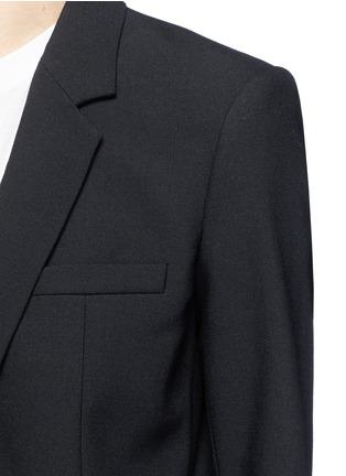 Detail View - Click To Enlarge - Helmut Lang - Crossbody strap cutoff pocket wool blazer