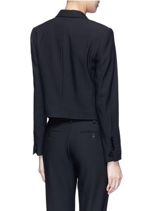 Back View - Click To Enlarge - Helmut Lang - Crossbody strap cutoff pocket wool blazer